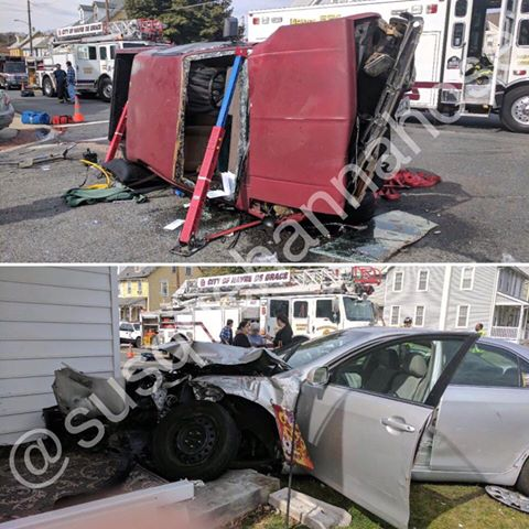 ONE PARTIALLY EJECTED AND PINNED – OTSEGO ST & N ADAMS ST
